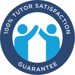 100% tutor satisfaction guarantee seal